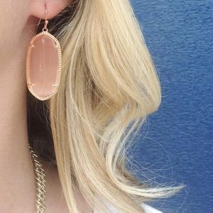 PEACH CAT EYE ELLE EARRINGS